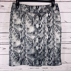 Sexy Snake Patterned Pencil Skirt from NY&CO